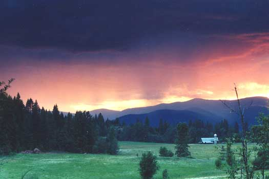 Sunset of a sandpoint Country Side